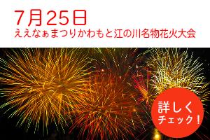 ええなぁまつりかわもと江の川名物花火大会